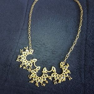 Banana Republic gold-and-crystal necklace